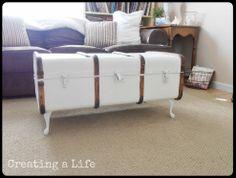 Hometalk :: Vintage Trunk Coffee Table furnitur makeov, decor, old trunks, coffee tables, idea, vintage trunks, trunk coffe, coffe tabl, vintag trunk