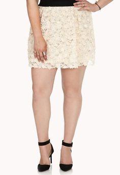 Sweet Rose Appliqué Skirt | FOREVER21 PLUS - 2031558046