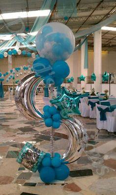 flower deliv, balloon decor, column, curv, balloon topiari