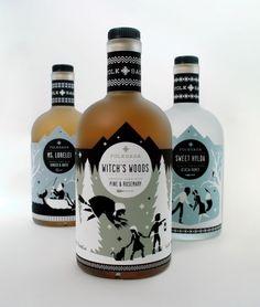 Folksaga Liquors branding
