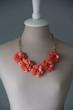 Azalea Necklace in Coral | Curated By Kelly