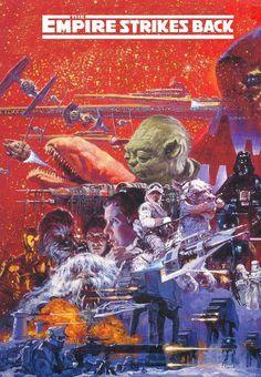 war stuff, pop art, movi poster, stars, starwar, three poster, star wars, galaxi, empir strike