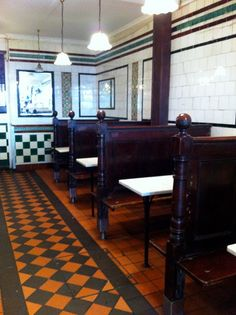IMG_0633 by eslaird, via Flickr  Pie and mash shop, London.