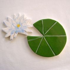 Koi  Mosaic tile ceramic lily pad and lotus by ArtTileMosaics, $11.95