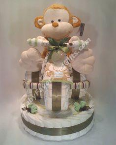 Tricycle diaper cake base http babyfavorsandgifts com diaper cakes c
