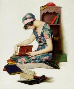 Walter Beach Humphrey (1892-1966); flowered dress 1920s
