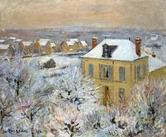 ALONGTIMEALONE: bofransson:  House in Winter -  Gustave Loiseau