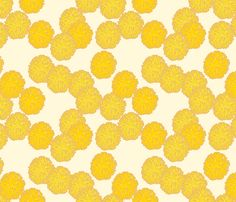 coral_yellow fabric by holli_zollinger on Spoonflower - custom fabric