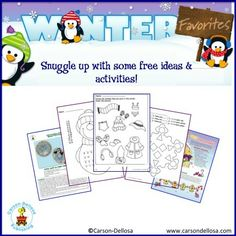 Keep your child's brain warm on winter days with TONS of FREE ideas and activities to print and share!