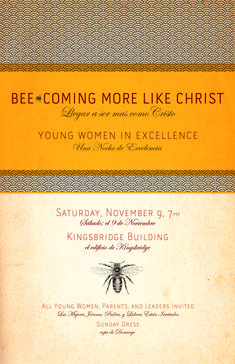 YW in Excellence Bee theme poster/invite | Mormon Share