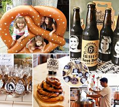 Here's a party idea that's outside the box, stress free & casual brought to you by contributor Jen CYK Photography and designed by a Deanna Moore Design! It's a Beer & Pretzel Party Father + Daughter Joint Birthday... ENJOY! #Pretzels #PartyIdeas http://hwtm.me/17HmBU1