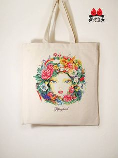 , Forests Flowers, Totebag Bags, Hair Hairstyles, Art, Totes Bags ...