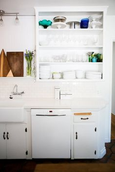 white LA kitchen —Chris and Amber's Old + New Renovated Home   Apartment Therapy
