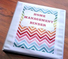 diy home sweet home: Home Management Binder...a more organized home is on my agenda for the year.  I think I just found the perfect first step!!