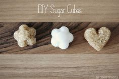 DIY sugar cubes, too cute, must try one day.