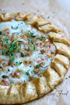 Caramelized Onion Tart with Gruyère & Fresh Thyme | Simply Love Food