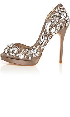 Karen Millen Baroque Multi Jewel Shoes