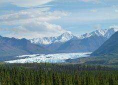 We had a beautiful view of Matanuska Glacier from the Glenn Highway near Palmer, Alaska. glenn highway, palmer alaska, matanuska glacier, alaska palmer, beauti view