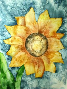 Sunflower watercolor art - Original
