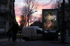 """Etienne Lavie replaced ads and billboards all over Paris with reproductions of famous paintings. This project appeals to me both as an art lover and someone who feels assaulted by advertisements"""