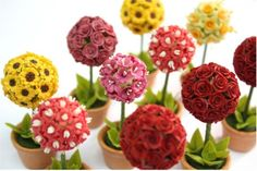 Miniature Polymer Clay Flowers Supplies White by Mycraftgarden, $9.50