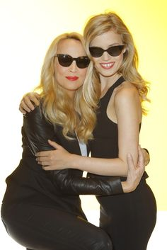 Sunglass Hut Taps Jerry Hall, Georgia May Jagger for Campaign    [Photo by Donato Sardella]