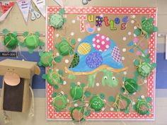 turtle classroom, turtle bulletin board, classroom turtles