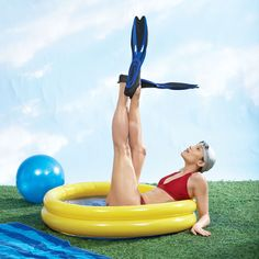 Pilates in the Pool: 5 exercises to try the next time you go for a swim:  http://www.womenshealthmag.com/fitness/outdoor-workouts-2