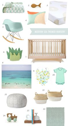 Modern sea-themed nursery