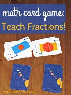 Math Card Game to Teach Fractions