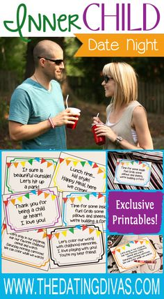 Inner Child Date Night planned for you with Printables.