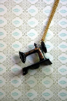 sewing machine necklace!