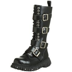 Besides the fact that they are not real leather is only a minor issue......These boots rock. Worn out or in....they are edgy and fun. I have small legs so the laces and buckles help to keep them tight. I absolutely love these.....