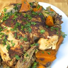 Slow Cooker Chicken and Vegetables with Cinnamon and Garlic
