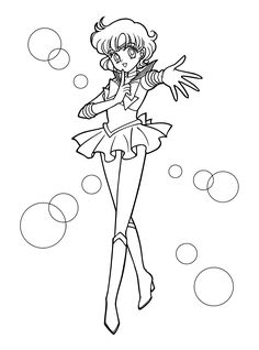 sailor moon coloring pages venus  Sailormoon coloring pages