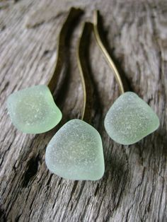 Seaglass Hair Pins