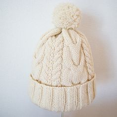 Pompon hat miknits of SiO2's Alan: Ravelry