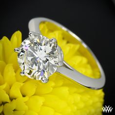 2.15ct A CUT ABOVE featured in the Swan Solitaire Engagement Ring by Vatche