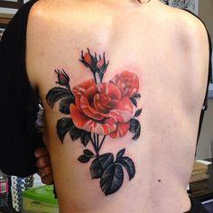 Flower tattoo by Amanda Grace Leadman