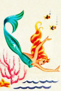 1950's meyercord Mermaid