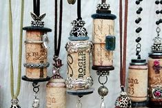 Wine Cork Necklace Charms