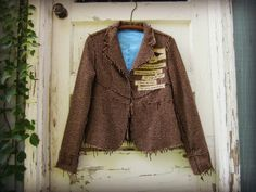 Med. Hope Quote Tattered Tweed Blazer// Emily by emmevielle, $69.00