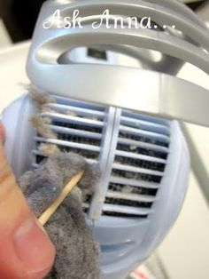 Cleaning hair dryer lint
