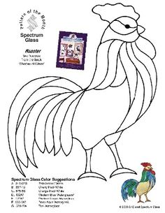 Free Printable Rooster Patterns | Free Stained Glass Pattern 2263-Rooster :: Free Patterns :: Stallings ...