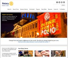 Rotary District 5320 had updated their website to reflect Rotary's visual identity. http://www.rotary5320.org/