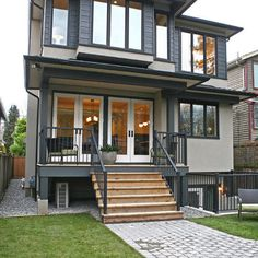 Vancouver home dark trim design ideas pictures remodel and decor