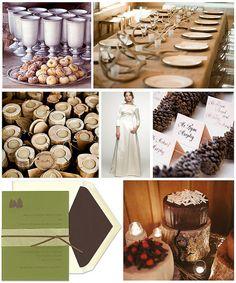 Rustic Lodge Wedding Details by finestationery, via Flickr