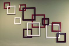 Cool idea - spray paint thrift store frames in school colors and glue them together.