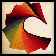 booklassie's Rainbow Wingspan using Kauni effektgarn colour EQ