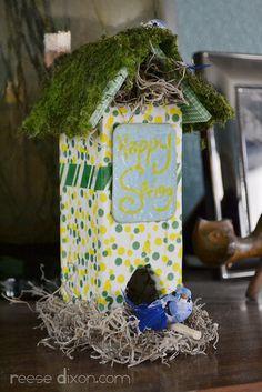Spring Birdhouse Craft Tutorial by reesedixon, via Flickr